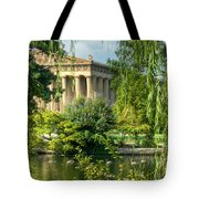 A View Of The Parthenon 13 Tote Bag