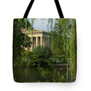 A View Of The Parthenon 3 Tote Bag