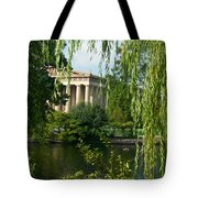 A View Of The Parthenon 9 Tote Bag by Douglas Barnett