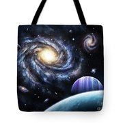 A View To A Nearby Galaxy From A Gas Tote Bag