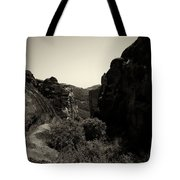 A View To The Monastery Of Roussanou Tote Bag