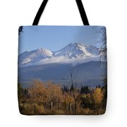 A View Toward Mt Shasta In Autumn Tote Bag