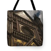 A View Upward At The Duomo Di Orvieto Tote Bag