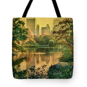 A Vintage Glimpse Of The Boating Lake Tote Bag