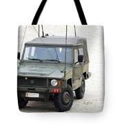 A Vw Iltis Jeep Of A Unit Of Belgian Tote Bag by Luc De Jaeger