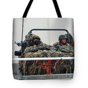 A Vw Iltis Recce Jeep On Guard Tote Bag