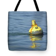 A Water Buoy In The Blue Water Of San Francisco Bay Tote Bag