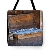 A Weathered Bench Tote Bag