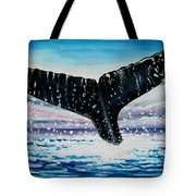A Whale And A Violet Sunset Tote Bag