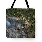 A Wildfire Burns Land Near Austin Tote Bag