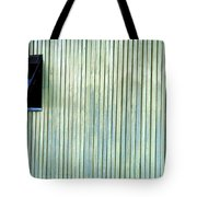 A Window In The Wall Of Wood Tote Bag
