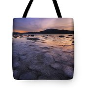 A Winter Sunset At Evenskjer In Troms Tote Bag