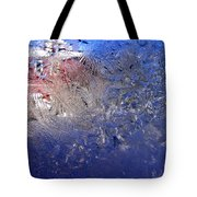 A Wintry Icy Window Tote Bag