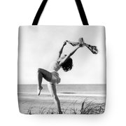 A Woman Dancing On The Shore Tote Bag