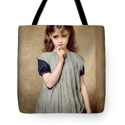 A Young Girl In The Classroom Tote Bag