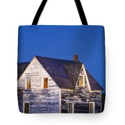 Abandoned House And Moon At Dusk Tote Bag