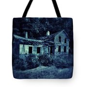 Abandoned House At Night Tote Bag