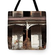 Abandoned House Facade Rusty Porch Roof Tote Bag