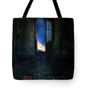 Abandoned House On Fire Tote Bag