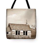 Abandoned Montana Shcoolhouse Tote Bag