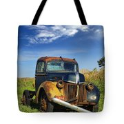 Abandoned Rusty Truck Tote Bag