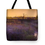 Abandoned Shack At Sunset Near A Creek Tote Bag