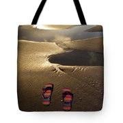 Abandoned Thongs Tote Bag by Avalon Fine Art Photography