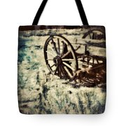 Abandoned Wagon By Old Ghost Town. Tote Bag