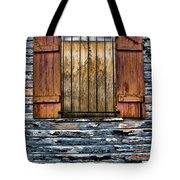 Abandoned Wood Building Tote Bag