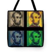 Abe In Quad Colors Tote Bag