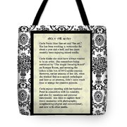 About The Artist Tote Bag