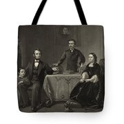 Abraham Lincoln And Family Tote Bag