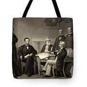 Abraham Lincoln At The First Reading Of The Emancipation Proclamation - July 22 1862 Tote Bag