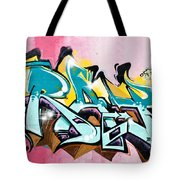 Absrtact  Graffiti On The  Textured  Wall Tote Bag