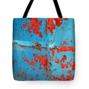 Abstrac Texture Of The Paint Peeling Iron Drum Tote Bag