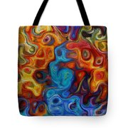 Abstract - And The Night Crept In Tote Bag