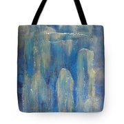 Abstract Blue Ice Tote Bag
