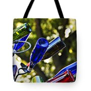 Abstract Bottle Structure Tote Bag