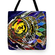 Abstract Busy Bee Fish Tote Bag