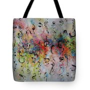 Abstract Calligraphy115 Tote Bag