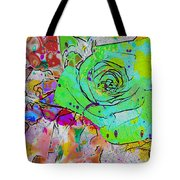 Abstract Childlike Rose Tote Bag