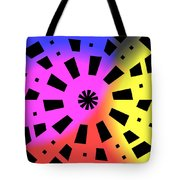 Abstract Color Forms Tote Bag