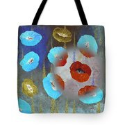 Abstract Colorful Poppies Tote Bag
