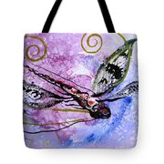 Abstract Dragonfly 6 Tote Bag