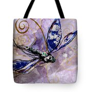 Abstract Dragonfly 9 Tote Bag