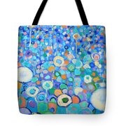 Abstract Flowers Field Tote Bag