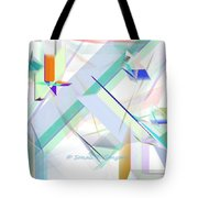 Abstract Flying Objects Tote Bag
