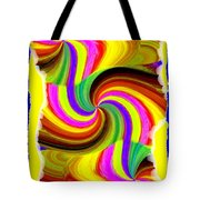 Abstract Fusion 123 Tote Bag