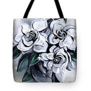 Abstract Gardenias Tote Bag