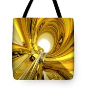 Abstract Gold Rings Tote Bag